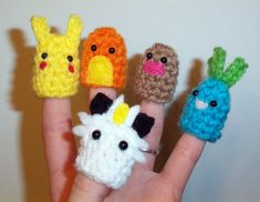 Pokemon Finger Puppets  by ~happysquidmuffin