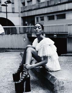 """""""Cover Story""""   Model: Jourdan Dunn, Photographer: David Roemer, Madame Figaro, September 2016"""