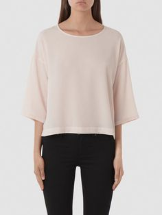 3/4 SLEEVED - T-SHIRT, Silver Peony