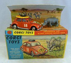 Corgi Toys 256 Volkswagen Beetle East Afican Safari with Rhino