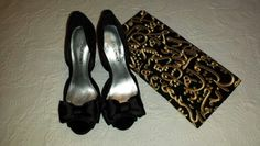 Day 18: bow heels from Shoemint and Arabic calligraphy clutch from Etsy!