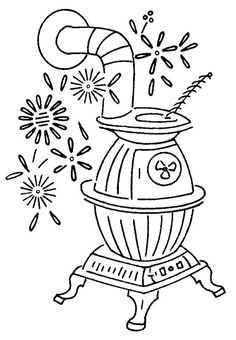 potbelly woodstove embroidery design 979 f by mmaammbr, via Flickr