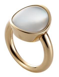 Rock crystal and white mother of pearl GIOTTO PICCOLO ring set in 18ct pink gold by Vhernier.
