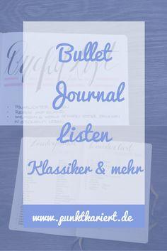 Ideen für deine Bullet Journal Listen: Die Klassiker & mehr (bullet journal page ideas)
