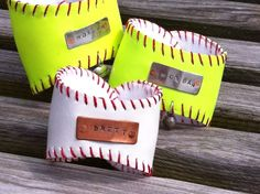 Baseball or Softball Cuff Bracelet...Personalized Sports Bracelet...Hand Stamped. $27.50, via Etsy.