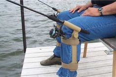 FISH-N-CHUM Leg Mounted Fishing  Rod / Pole Holder