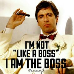 Al Pacino plays Tony Montana in Scarface Scarface Quotes, Scarface Movie, Bitch Quotes, Boss Quotes, Life Quotes, Saint Yves, Montana, Gangster Quotes, Gangster Films