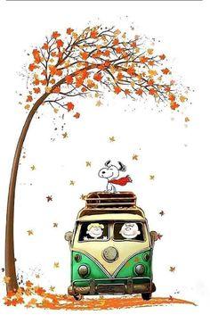 It is Snoopy like autumn. In November, or even dead trees . - It is Snoopy like autumn. November, or even dead trees. Peanuts Gang, Peanuts Cartoon, Snoopy Wallpaper, Fall Wallpaper, Iphone Wallpaper, Halloween Wallpaper, Charlie Brown Et Snoopy, Snoopy Et Woodstock, Happy Halloween Banner