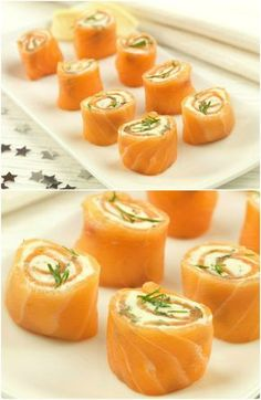 salmon pinwheels easy party food recipe great for christmas parties christmas appetisers Christmas Nibbles, Christmas Canapes, Christmas Buffet, Christmas Party Food, Christmas Lunch, Xmas Food, Xmas Party, Salmon Recipes, Seafood Recipes
