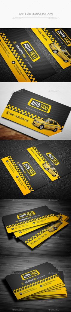 Taxi Cab Business Card Template PSD