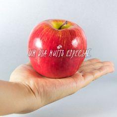 maçã artificial decorativa festa evento arranjo frutas - Um Dia Muito Especial   Decoração delicada e romântica para a sua festa
