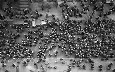 """Historical Photos 1935, New York City, U.S.A. -- Everyone wore hats: """"New York became the most populous urbanized area in the world in early 1920s, overtaking London. The metropolitan area surpassed the 10 million mark in early 1930s, becoming the first megacity in human history."""""""
