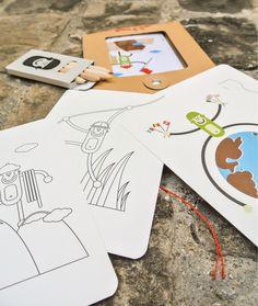 Kit de cartes postales à colorier Monde Wistiworld