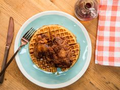 Sunny's Spicy Buttermilk Fried Chicken and Waffles