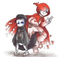 Underswap Reaper And Geno (Harvest and Holo) by thegreatrouge on DeviantArt