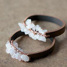 DIY Chunky Leather Bracelet by Jersica