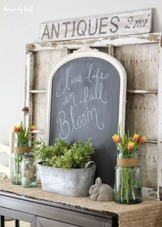 Spring Dining Room Decor via House by Hoff