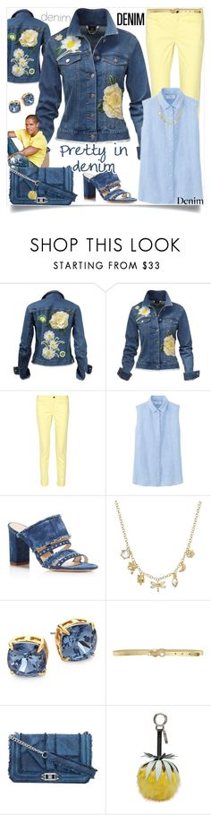 """""""All Denim, Head to Toe"""" by easy-dressing ❤ liked on Polyvore featuring 10 Crosby Derek Lam, Uniqlo, Marion Parke, Temple St. Clair, Tory Burch, Just Cavalli, Rebecca Minkoff and Fendi"""