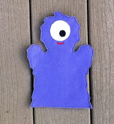 Monster  Halloween Hand Puppet   KiD SiZe by ThatsSewPersonal, $7.50