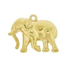 Pingente Elefante de ABS - 27mm