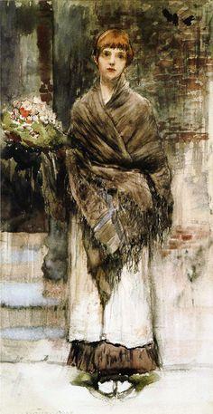 Jules Bastien-Lepage (1848–1884) - Study for 'Flower-Seller in London'