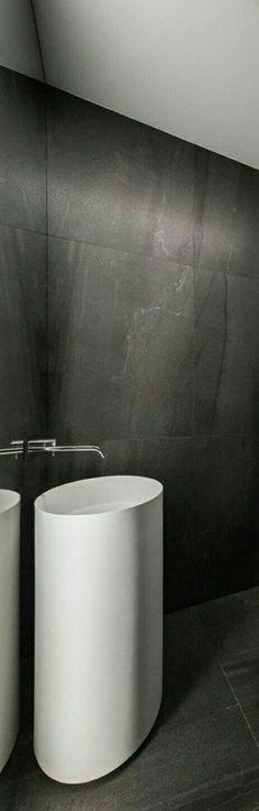 Une salle de bain minérale Pinterest