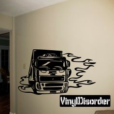Semi Truck Wall Decal - Vinyl Decal - Car Decal - DC 078