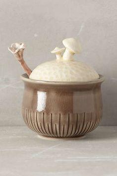 Sprouted Mushroom Sugar Pot