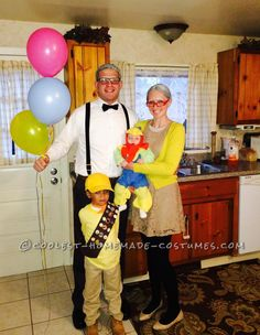 Coolest Homemade Disney Up Family Costume... This website is the Pinterest of costumes