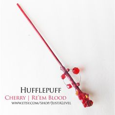 Carmine Harry Potter Inspired Wand (Hufflepuff) ($25) ❤ liked on Polyvore featuring wands and hufflepuff wand