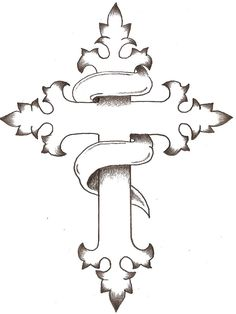 cross drawing drawings crosses simple tattoos cool thelob tattoo designs deviantart ornate heart traditional illustrations getdrawings easy celtic contour fruit
