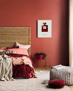 Coco Chanel No 5 Red Print Chanel Red Perfume Bottle Poster Chanel number five Limited Edition Wall Art Red iconic Parfum Fashion Poster Red Wall Red velvet duvet cover red velvet round pillow red accents red bedroom Decor, Bedroom Decor, Bedroom Colors, Home, Bedroom Design, Bedroom Wall Colors, Bedroom Red, Home Decor, Bedroom Wall