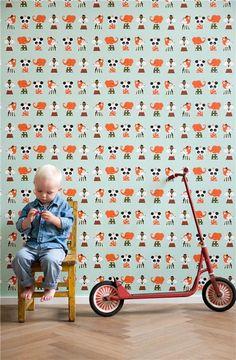 happy colours and animals ! http://www.nomadinparis.com/A-5510-papier-peint-marionette.aspx