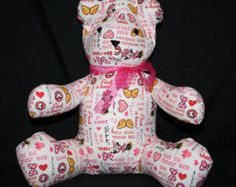 Minnie Mouse Share-A-Bear by Nina - Edit Listing - Etsy Scary Kids, Very Scary, Cute Bears, Backrest Pillow, Minnie Mouse, Dinosaur Stuffed Animal, Children, Animals, Etsy