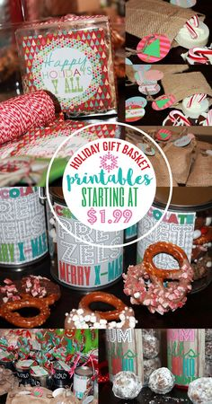 Holiday gift basket printables for teachers gifts, co workers, friends and family. Christmas wine labels and more via Party Box Design Christmas Cocktail Party, Christmas Cocktails, Christmas Wine, Family Christmas, Holiday Parties, Holiday Gift Baskets, Holiday Gifts, Christmas Party Invitations, Wine Labels