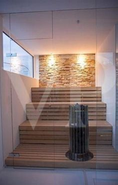sauna with a view, the lighting is sensational A sauna is perfect for your mind . - sauna with a view, the lighting is sensational A sauna is perfect for your mind & body :] - Sauna Hammam, Spa Sauna, Sauna Steam Room, Sauna Room, Modern Saunas, Sauna A Vapor, Sauna Seca, Indoor Sauna, Sauna Design