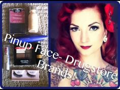 Drugstore vintage inexpensive pinup makeup tutorial by CHERRY DOLLFACE - YouTube