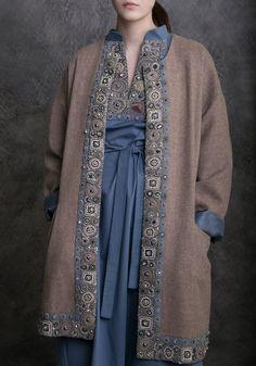 Кашемировый мягкий кафтан с классическим платьем Levadnaja Details