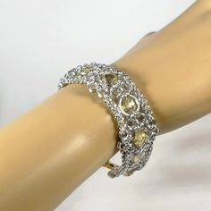 """Anastacia"" with golden glass bead, designet by Torild Larsen"