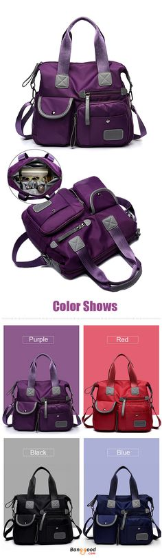 US$31.91+Free shipping. Women Bags, Handbags, Crossbody Bag, Nylon, Waterproof, Large Capacity, Multi Pocket, Multifunction. Color: Black, Purple, Dark Blue, Red. Shop now~