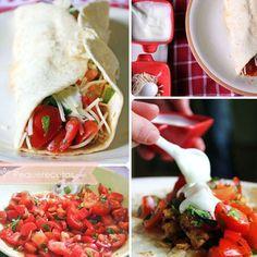 Comida mexicana: fajitas de pollo