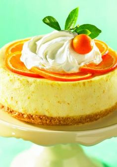 Orange Blossom Cheesecake - I'd take this delectable dessert over flowers any Valentine's Day!