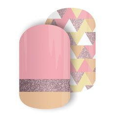 Jewelry Box | Jamberry  A spunky Mixed Mani featuring hues of pink and gold sparkle for a flirty, fun look!