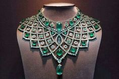 Green for the holidays, right?  Part of the Romanov family jewels (by Faberge)
