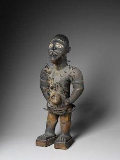 nkisi nkondi Vili Créateur : Maître de la Rivière Chiloango  Ca 1900  H 32 cm