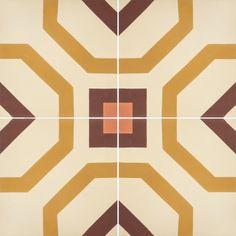 Cement Tiles - Connemara 1013 B 10 x 10 Deco - By Granada Tile