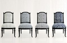 Upholstered furniture - each piece unique.... #les_indiennes #blockprint #hudsonny #upholstery #chairs