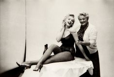 Marilyn Monroe on the set of Bus Stop
