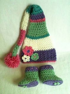 Gorro multicolor crochet