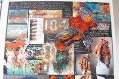 MORRISONS ACADEMY HIGHER DESIGN RESEARCH Textiles Sketchbook, Art Sketchbook, Ed Design, Book Design, Doodle Books, Drawing Journal, A Level Art, Higher Design, Gcse Art